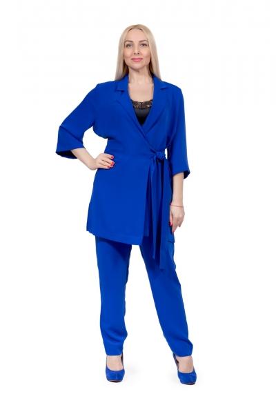 Костюм-пижама синий  - Фото