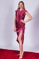 """Dress """"Radiant orchid"""" with drapery - Фото"""