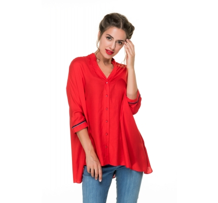 Blouse red color