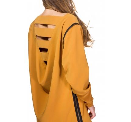 Сукня кольору охри