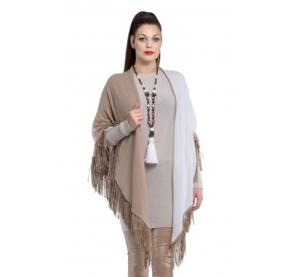Tippet beige and white color